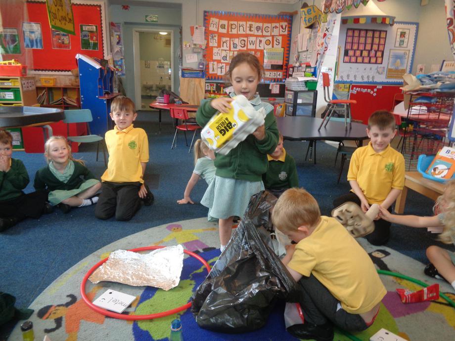 Sorting rubbish