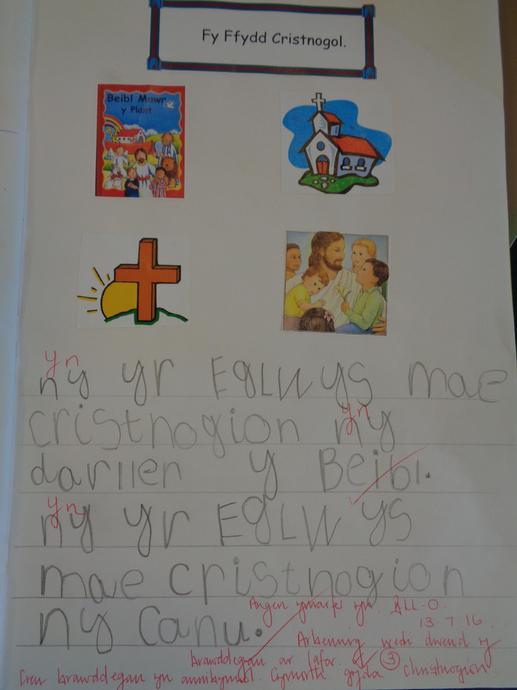 Gwaith Addysg Grefyddol - Religious Education