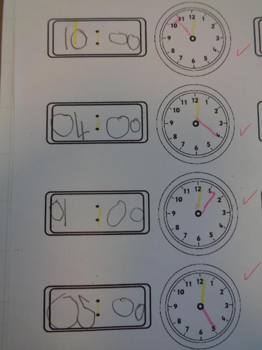 Cofnodi'r amser - recording the time