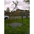 The second willow dome completed on the field