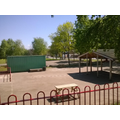 The cleaned and preened playground in the sun
