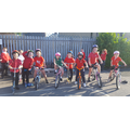 Our year 3 children getting ready to cycle!