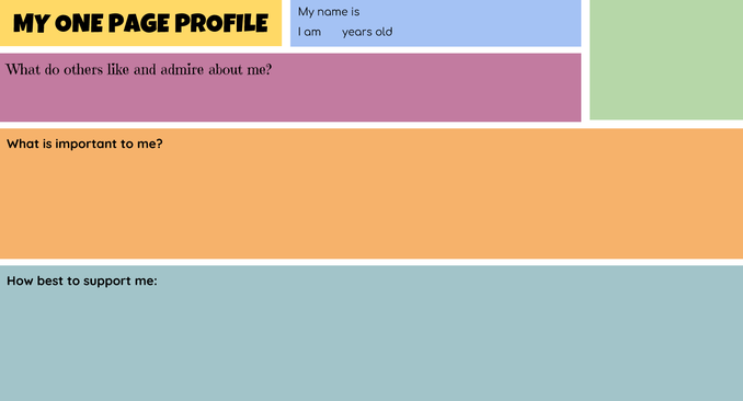 One Page Profile Template
