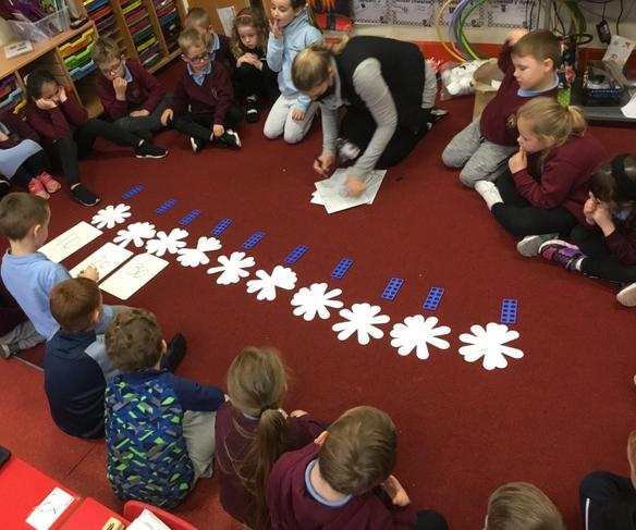 Counting in ten with flowers
