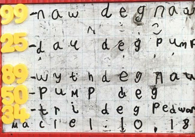 Ysgrifennu a threfnu rhifau/ Writing and ordering