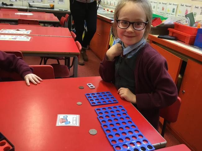 I know the value of coins in numicon