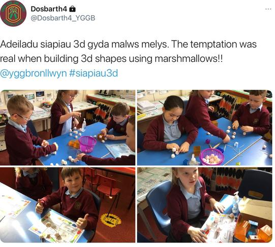 3D shapes with marshmallows