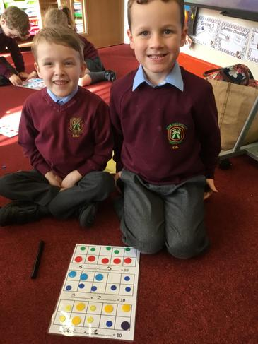 Number bonds with counters