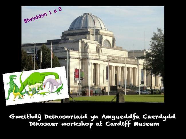 Cawsom diwrnod bendigedig heddiw yn dysgu am ddeinosoriaid yn Amgueddfa Caerdydd! Clôd mawr i'r plant am fod yn arbennig!! Fantastic day today in Cardiff Museum learning about the dinosaurs. A big praise to the children for being fantastic!!!!  1