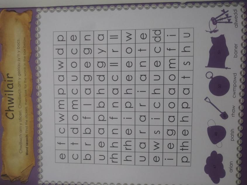 Chwilair 1/ Wordsearch 1