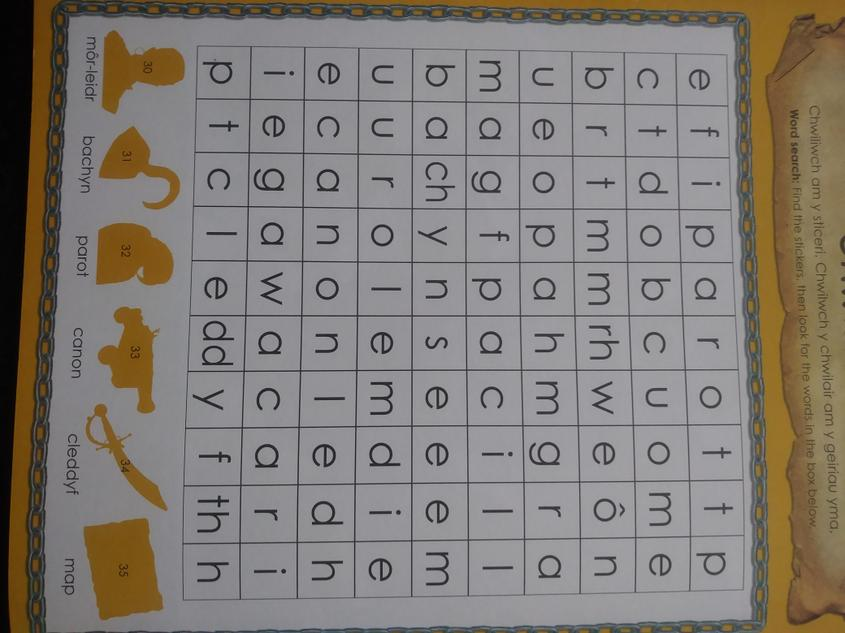 Chwilair 2/ Wordsearch 2