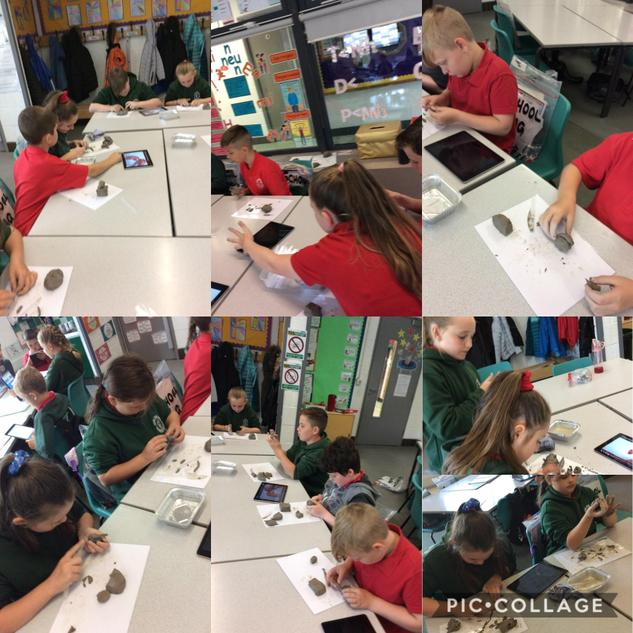 Deall manylion y galon trwy clai/ Discovering details of the heart through clay