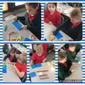 Gweithio'n galed gyda'n adnoddau mathemateg / Working hard with our mathematics resources
