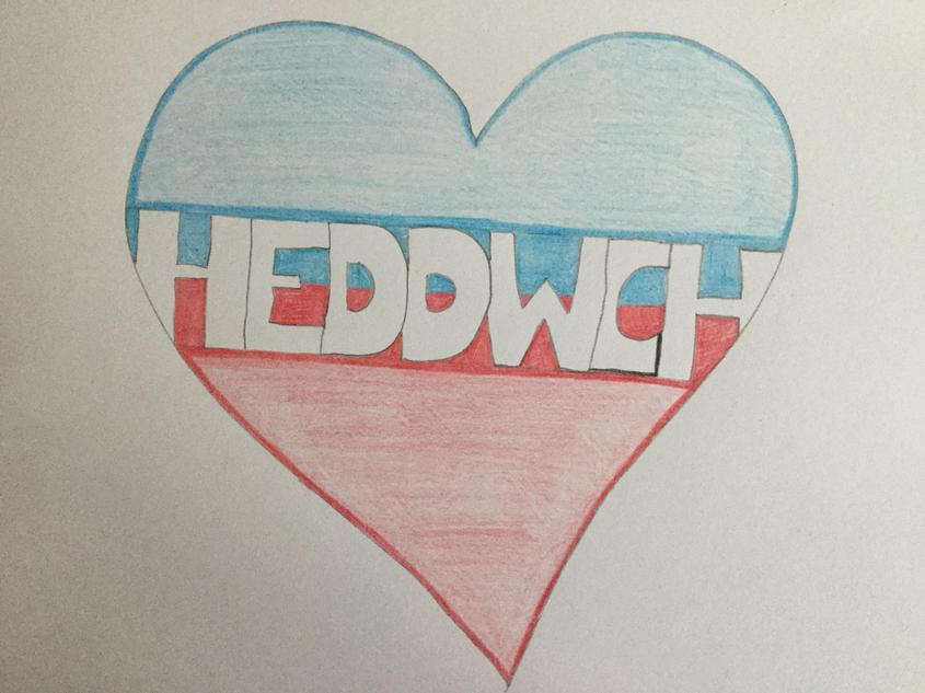Calon 'Heddwch' Miss Evans/ My 'peace' heart