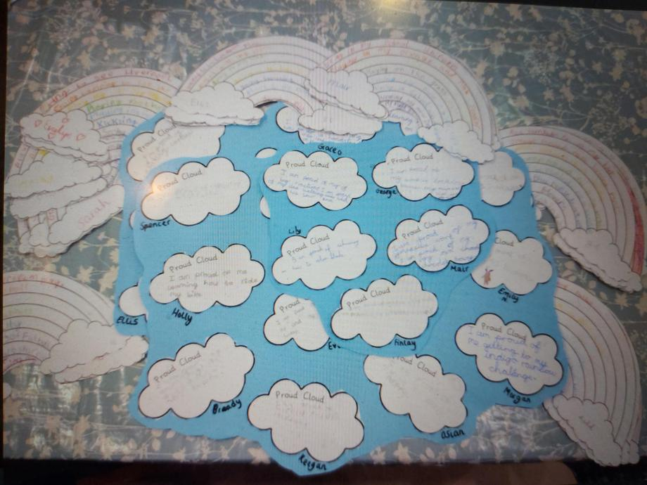 Examples of Proud Clouds & Rainbow Wishes