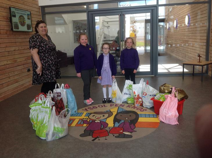 We are collecting for our local food bank.