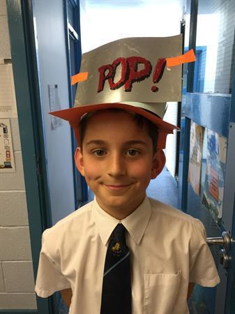 Pop Art inspired hats