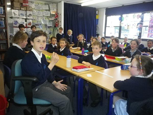 Adam leading our School Council meeting