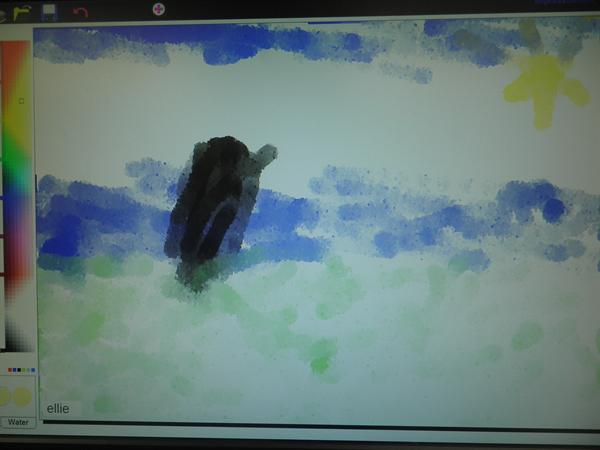 Pictures created on the computer inspired by Monet
