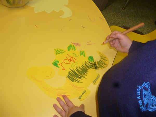 Decorating dinosaurs