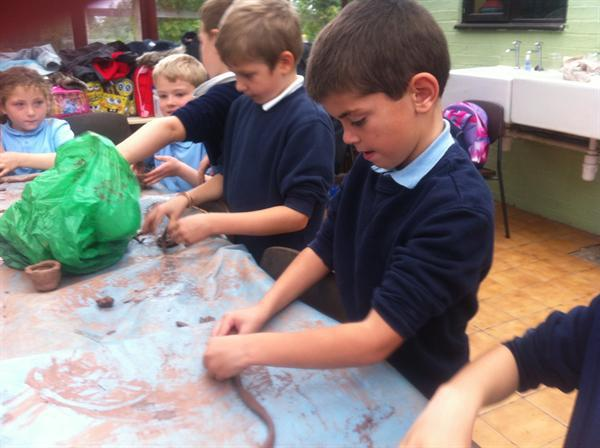 We have made clay pots