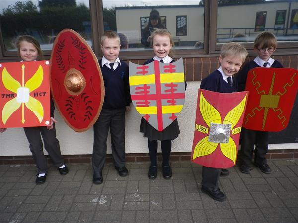 Our wonderful Roman shields- Tryfan