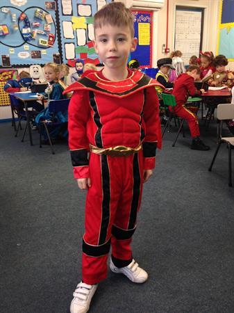 Owen is Red Power Ranger!