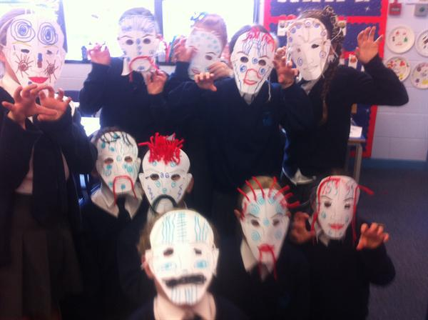 Creating Celtic battle masks!