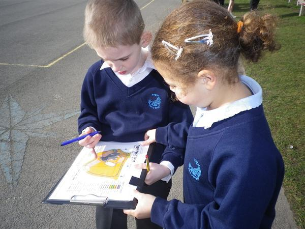 Orienteering on a sunny day!