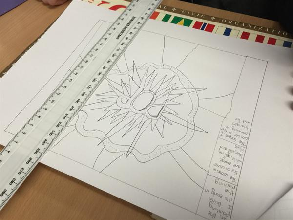 Researching and recording in our sketch books