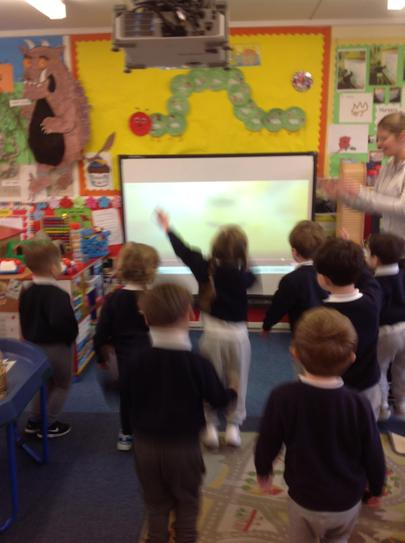 we loved dancing with Pudsey bear