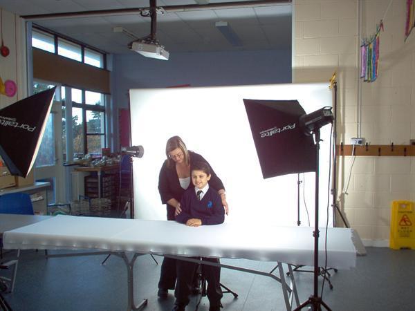 Having our photos taken