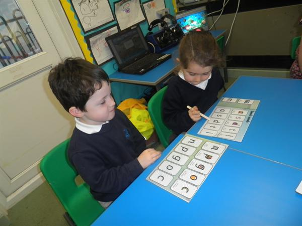 practising sounds with our learning partner