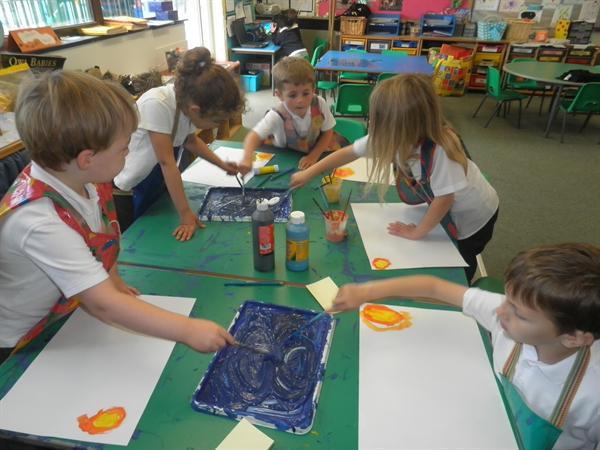 Look at our Van Gogh inspired paintings