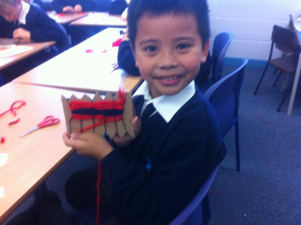 We have been learning how to weave