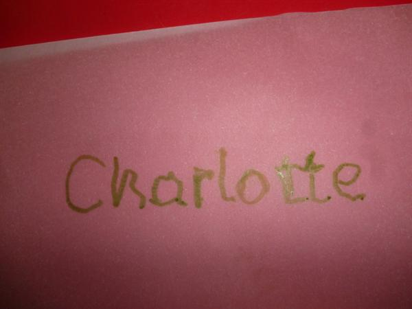 Tracing our names!