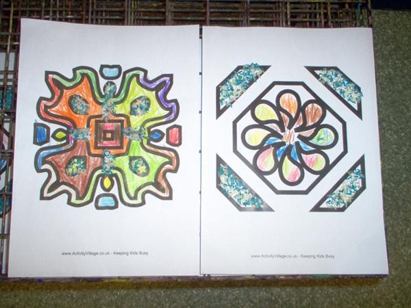 We made Rangoli Patterns