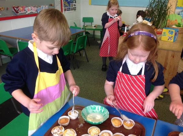 Decorating our cakes?