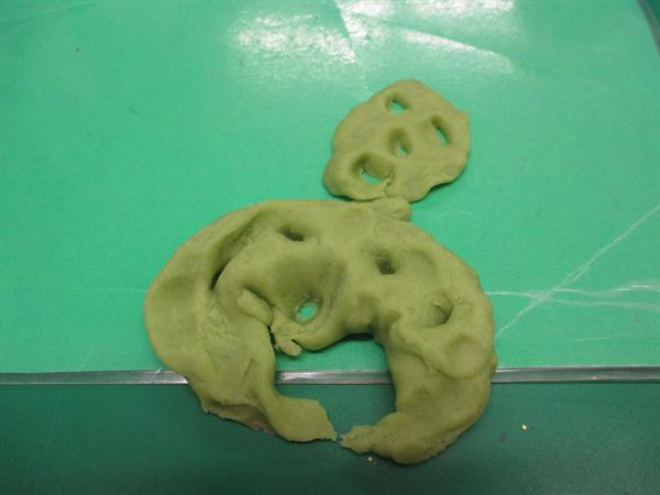 Look at our playdough dragons!