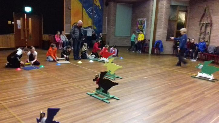 Dragon racing - this was VERY competitive!