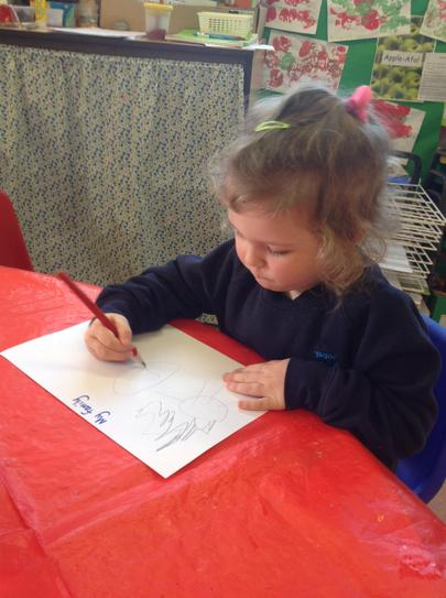 we have been drawing pictures ofour families.