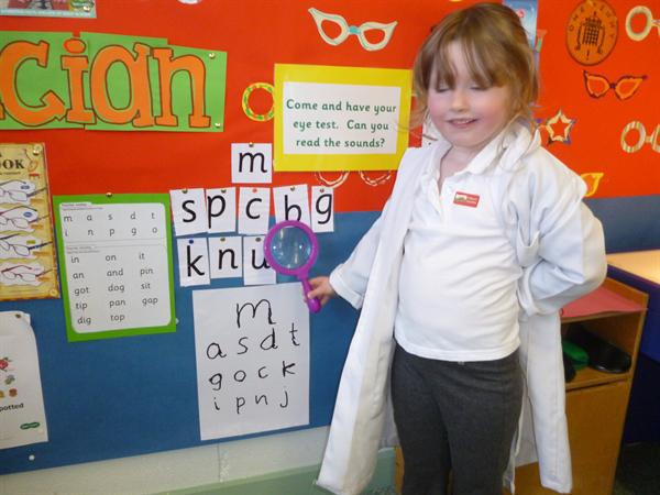 Our Opticians role play area