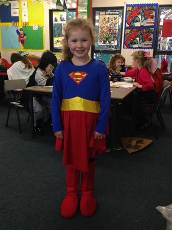 Lauren is Supergirl for the day!