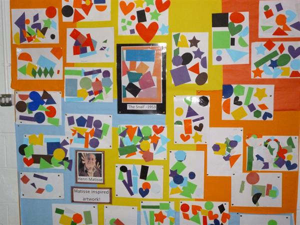 Shape collage inspired by Henri Matisse!