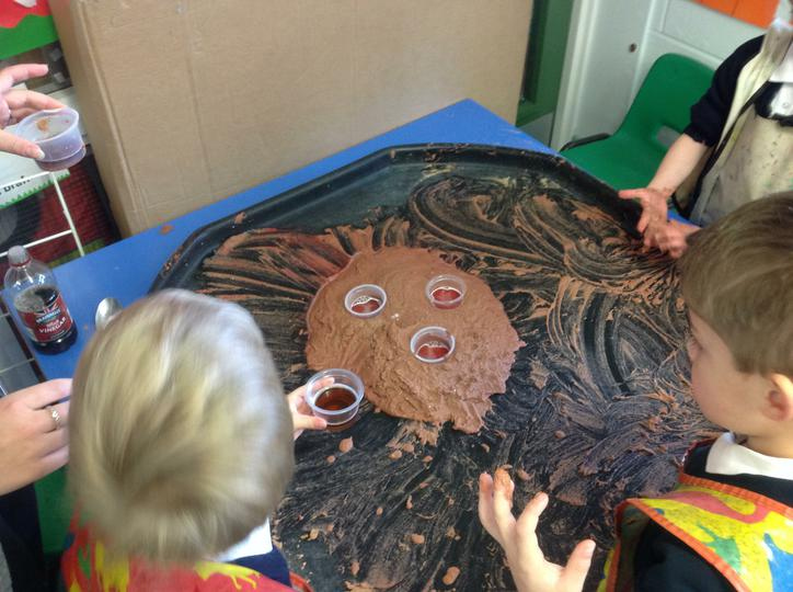 Making a giant volcano!