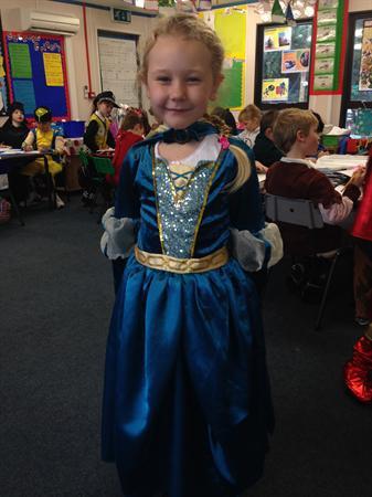 Ruby is dressed as Brave Ruby!