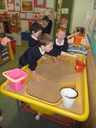 finding shapes in the sand