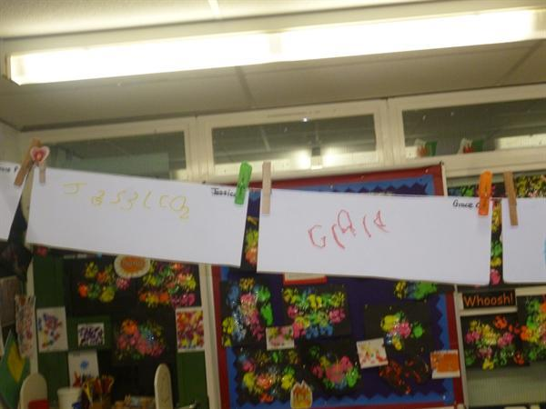 Independent name writing!