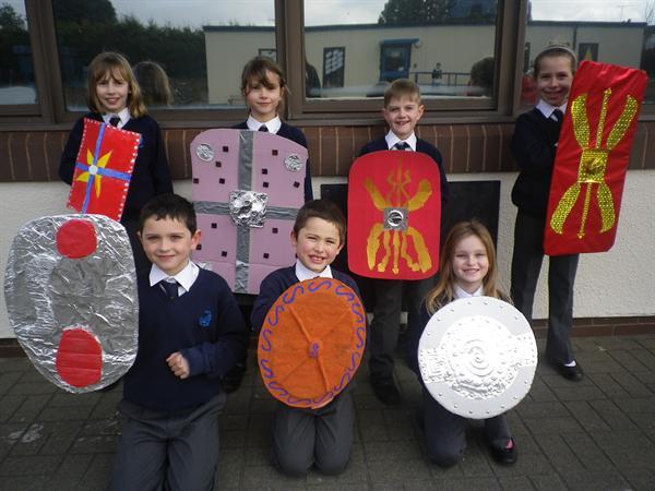 Our wonderful Roman shields-Glyder