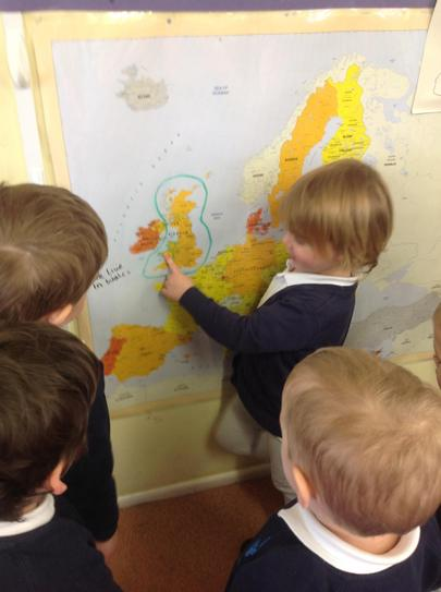 looking at the map to see where they grow
